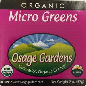 micro greens salmonella