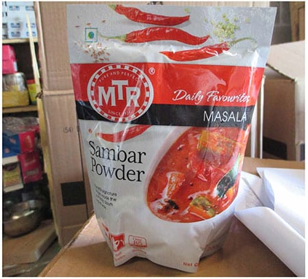 MTR Sambar Powder salmonella